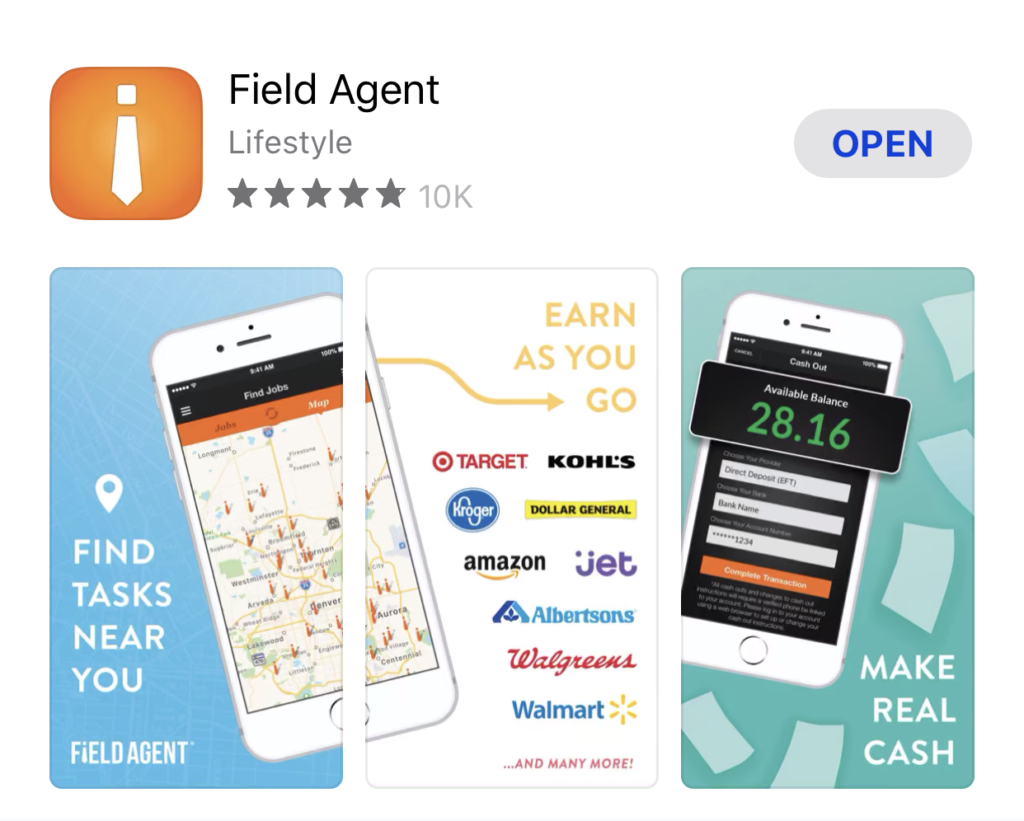 Field Agent App-5-star rating
