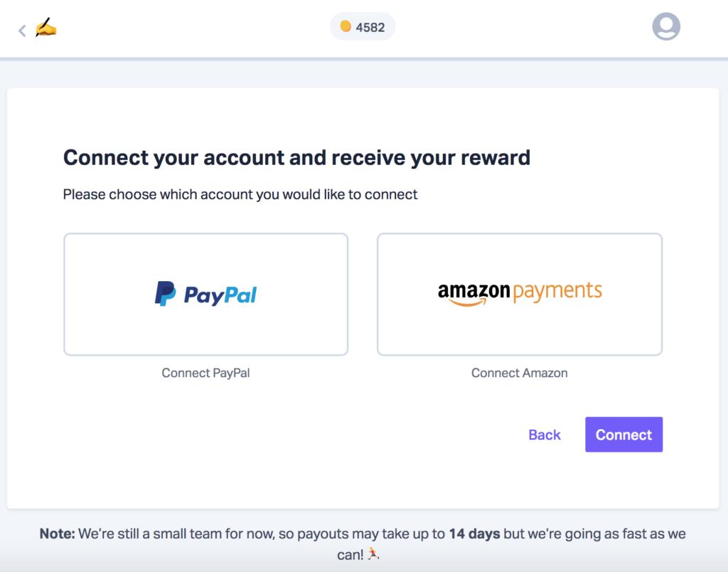 Pollpass payment choices