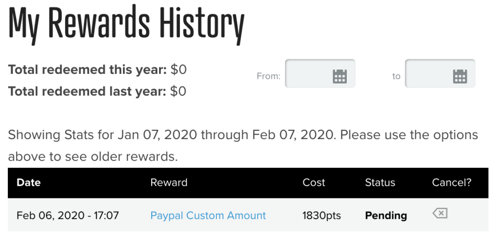 PrizeRebel Paypal reimbursement confirmation