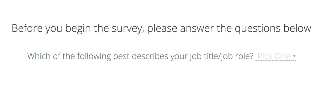 PrizeRebel survey screen