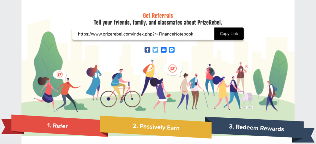 PrizeRebel Referral Program