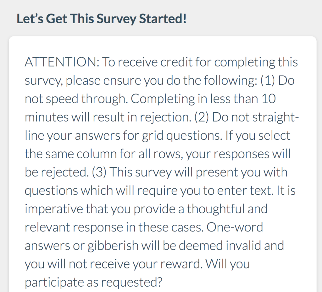 PrizeRebel Survey attention