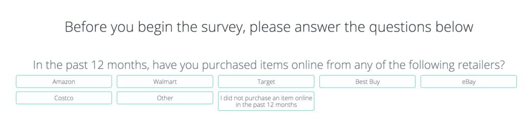 PrizeRebel Survey example questions