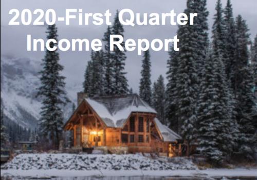 2020 First Quarter-Income Report