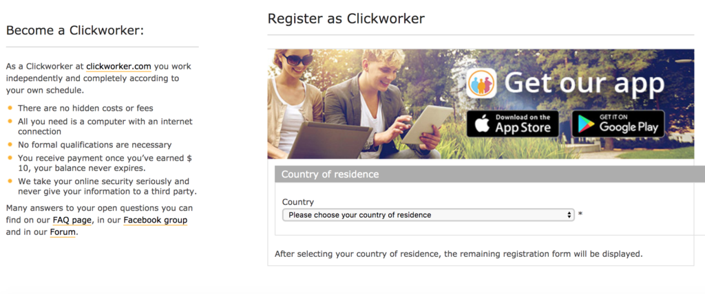 Clickworker Registration Step 2