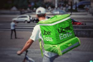 Is Uber Eats Worth It for Restaurants? - Uber Eats Driver on Bike