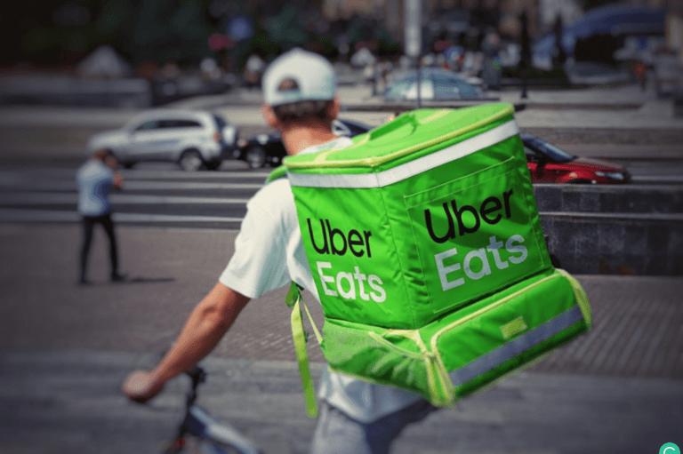 Is Uber Eats Worth It for Restaurants? - Uber Eats Driver on Bike